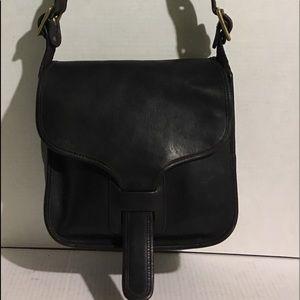 Coach Vintage Black leather shoulder handbag
